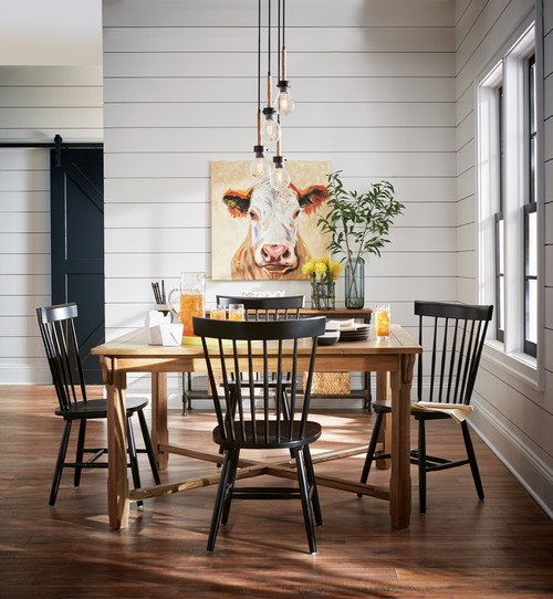 Simple White Themed Dining Room Design Ideas: Country Style Rooms For A Cozy Home