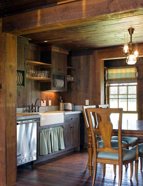 Cabin style decorating