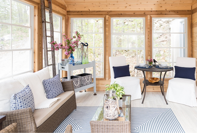Quebec cottage sun room