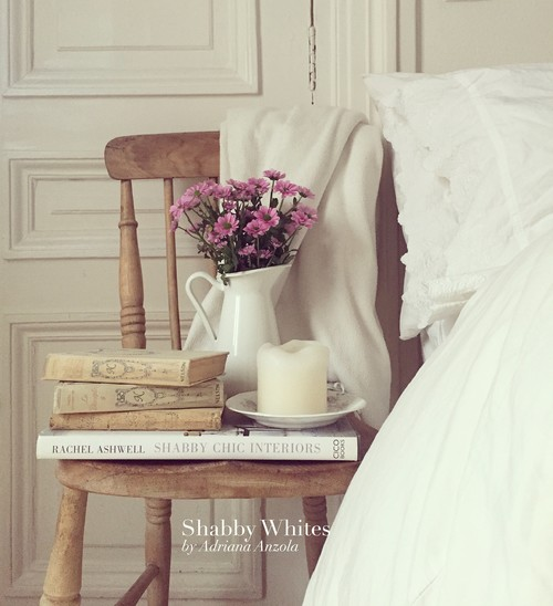 Vintage Books on a Farmhouse Bedroom Chair