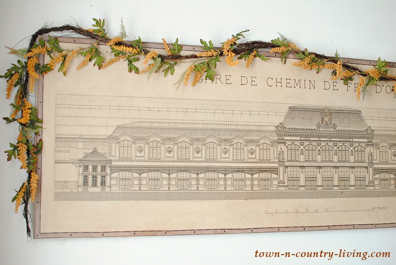 Architectural drawing of French train station