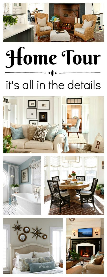 Home tour with architectural details