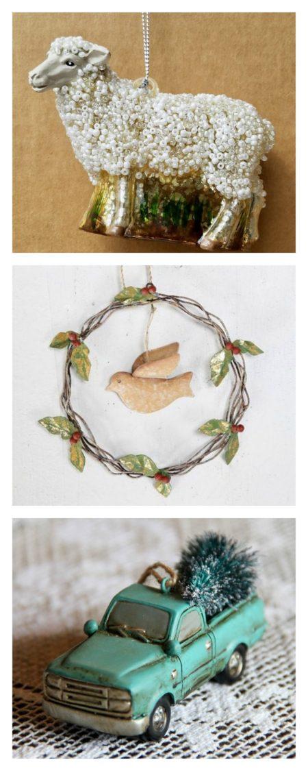 Vintage Style Christmas Ornaments at Marmalade Mercantile