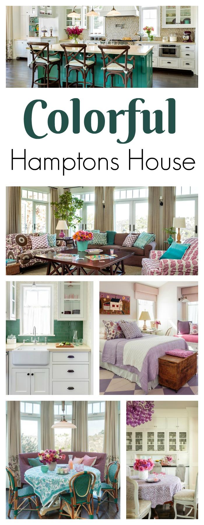 take a tour of a colorful hamptons house - Tour Of The Hamptons