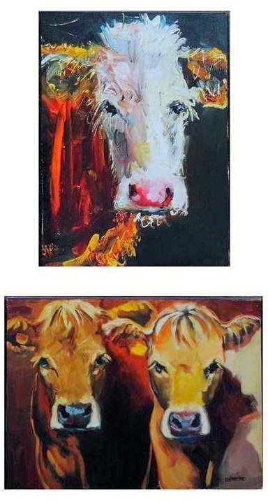 Cow Canvas Art - Farmhouse Style