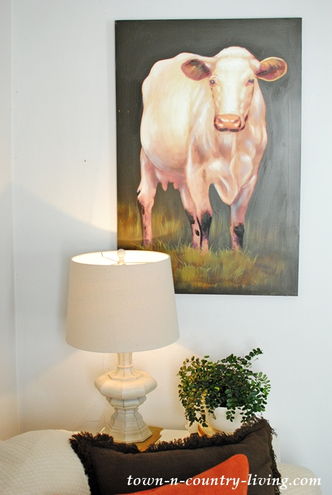 Farmhouse Cow Painting
