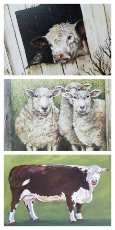 Farmhouse Animal Canvas Art
