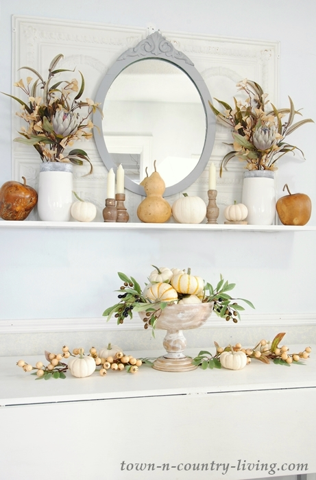 Farmhouse Dining Room Mantel