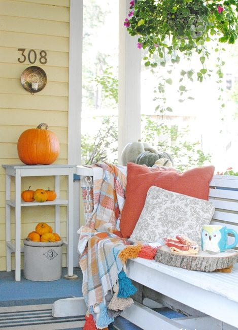 Fall on a Farmhouse Front Porch