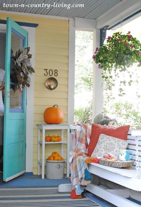 Fall on a Farmhouse Porch