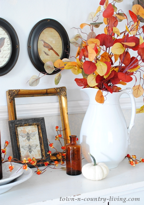 Fall Vignette with Free Bird Printables