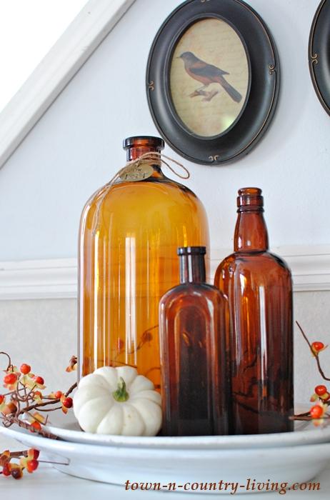 Vintage Amber Brown Bottles