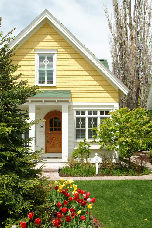 Yellow Craftsman Bungalow