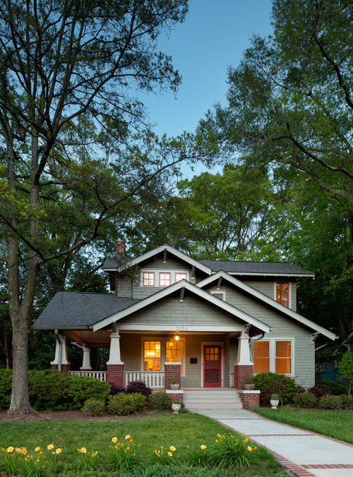 Gray Craftsman Bungalow