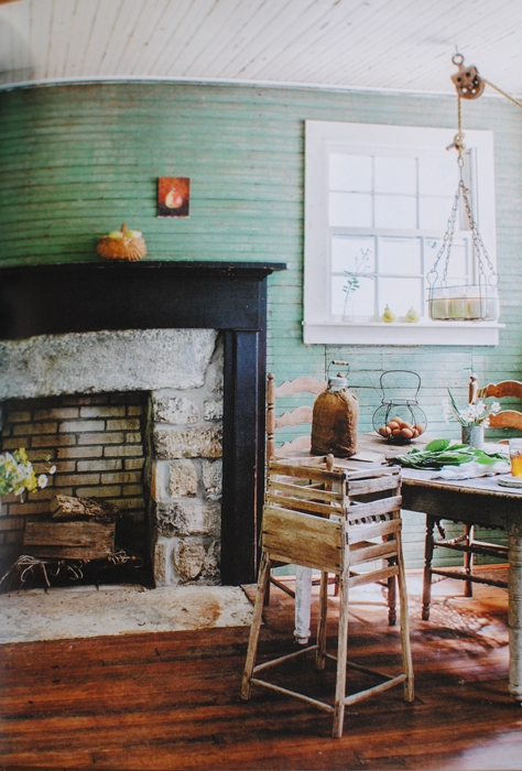 City Farmhouse Style Book - rustic fireplace