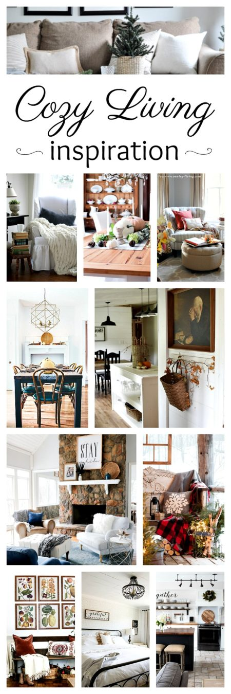 Cozy Living Inspiration - New Blog Series!