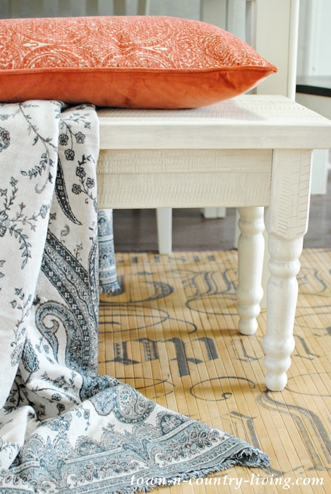 White Farmhouse Dining Bench