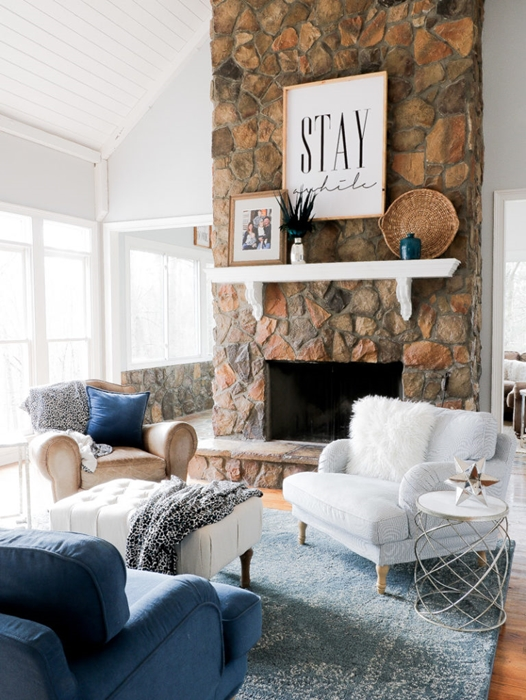 Cozy Living Room by Duke Manor Farmhouse