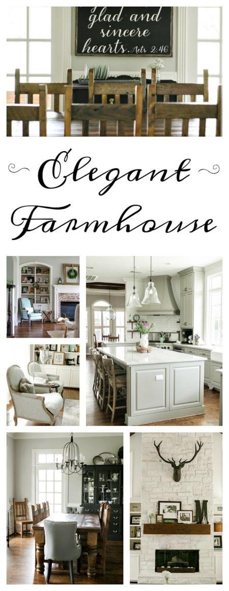 Take a tour of this pretty, elegant farmhouse