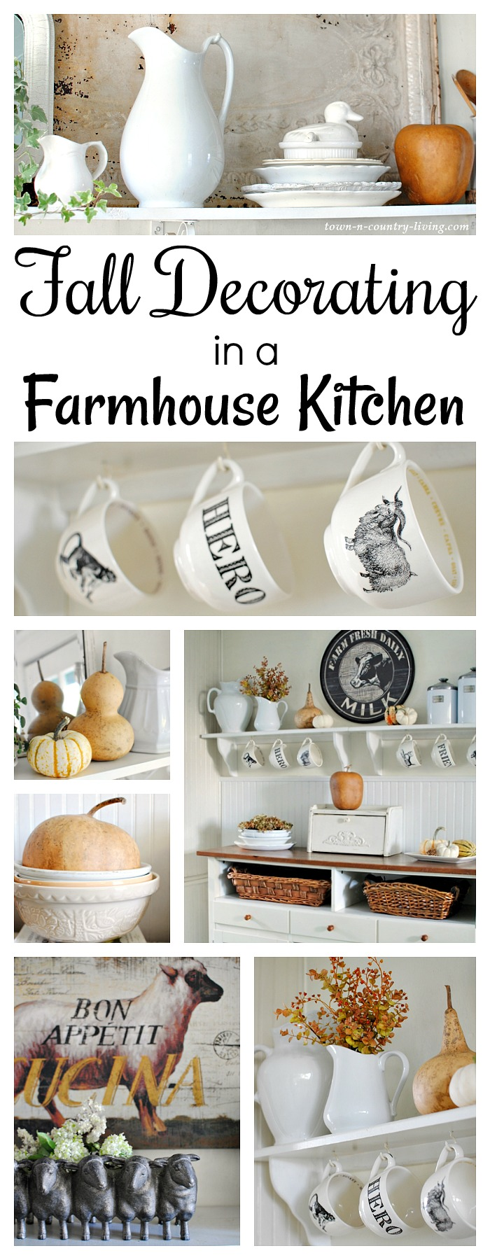 Fall Decorating in My Farmhouse Kitchen - Town & Country Living