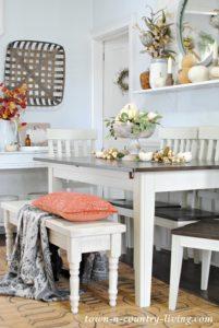 A Farmhouse Dining Table for an Awkward Room