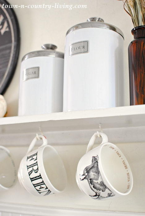 Farmhouse Mugs in a Country Kitchen