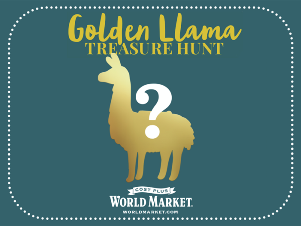 Golden Llama Treasure Hunt at Cost Plus World Market