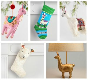 Christmas Shopping Fun with Llamas