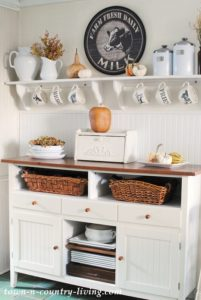 Fall Decorating in My Farmhouse Kitchen