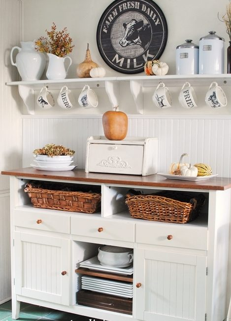 Kitchen Sideboard in a Farmhouse Kitchen