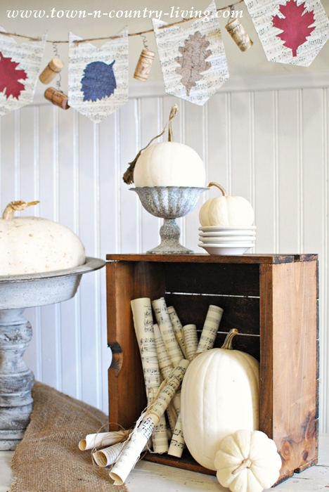 White Ghost Pumpkins for Fall Vignettes