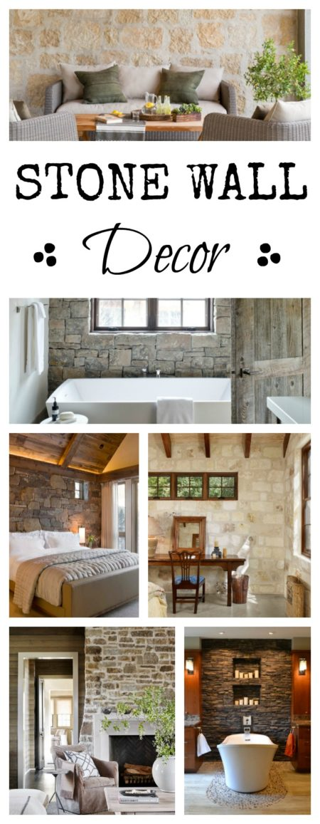 Stone Wall Decor - add texture to your home