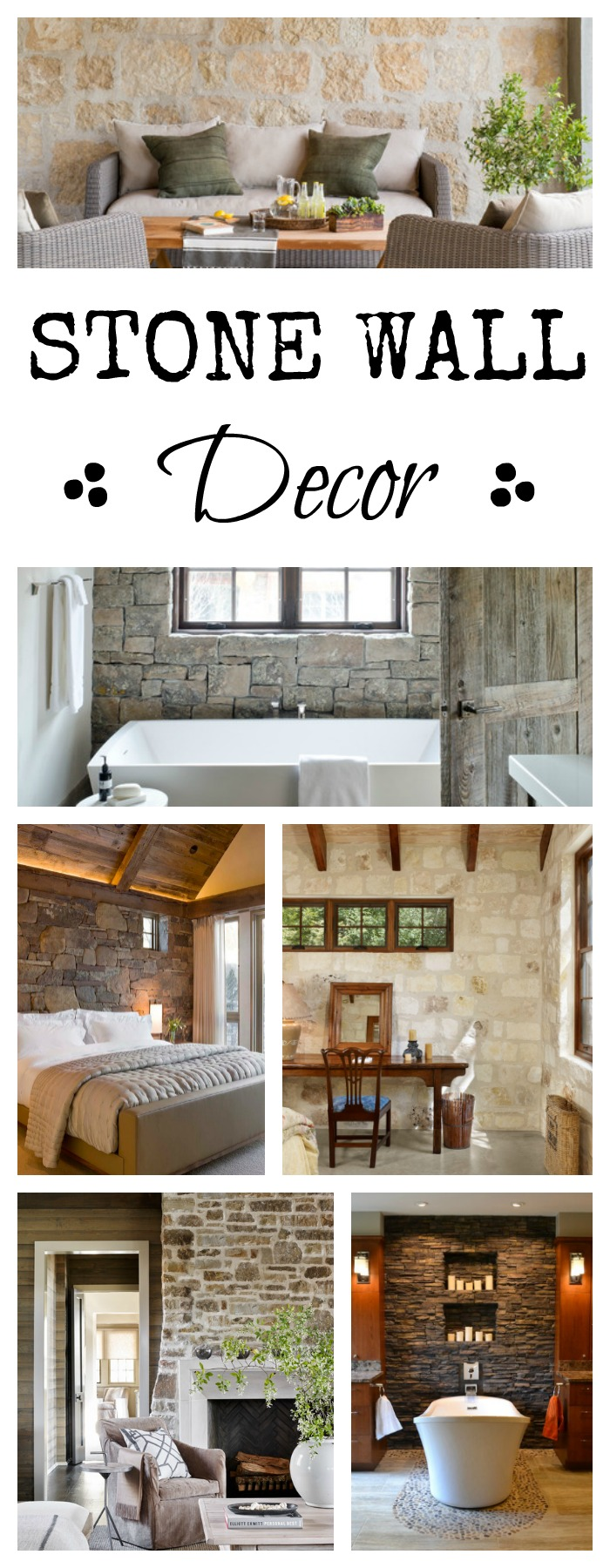 Cute Stone Wall Decor add texture to your home