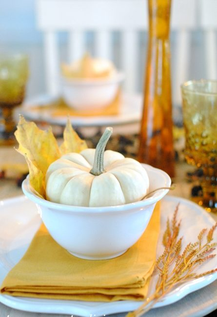 Golden Autumn Days Table Setting