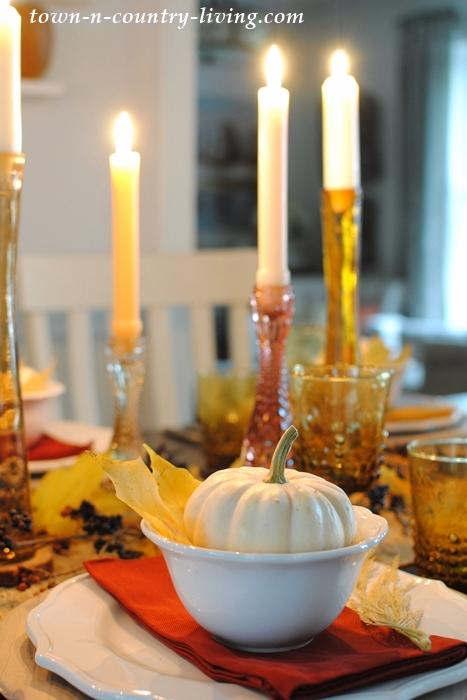 Golden Autumn Days Table Setting
