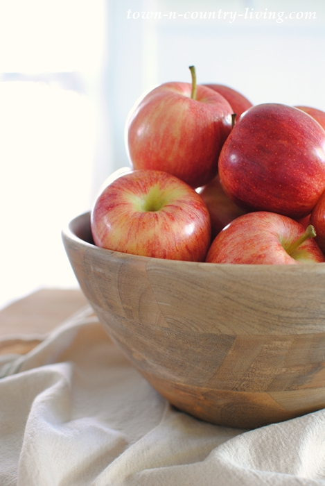 Wooden Bowl of Apples