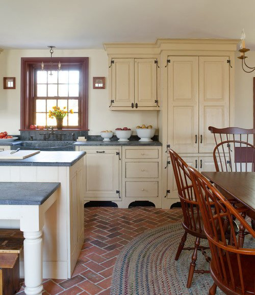 Country Kitchen in Red and Cream