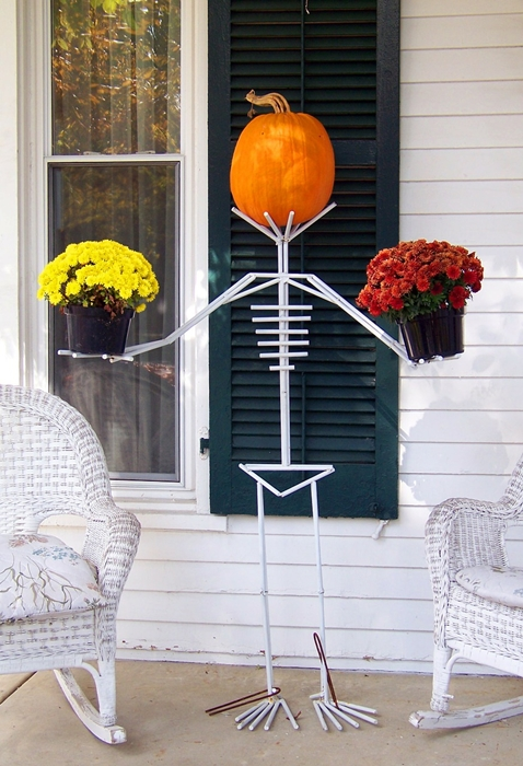 Skeleton Floral Display