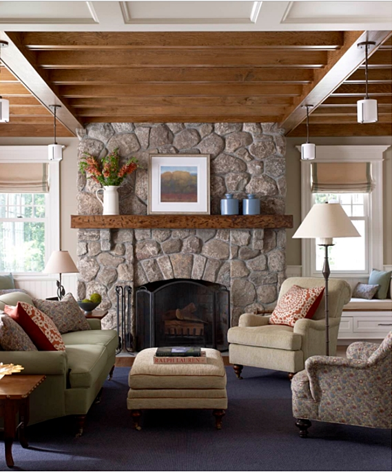 country style mantels and fireplaces town country living