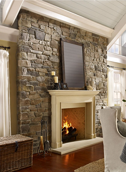 Traditional White Mantel