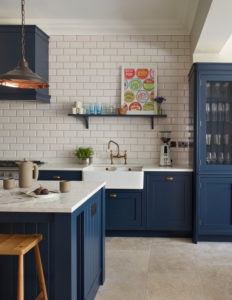 Navy and White Sophisticated Kitchen