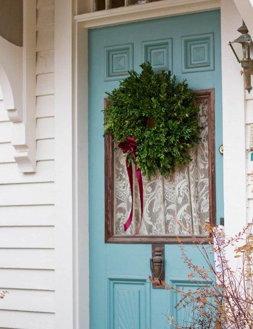 Christmas Decorating - Front Door
