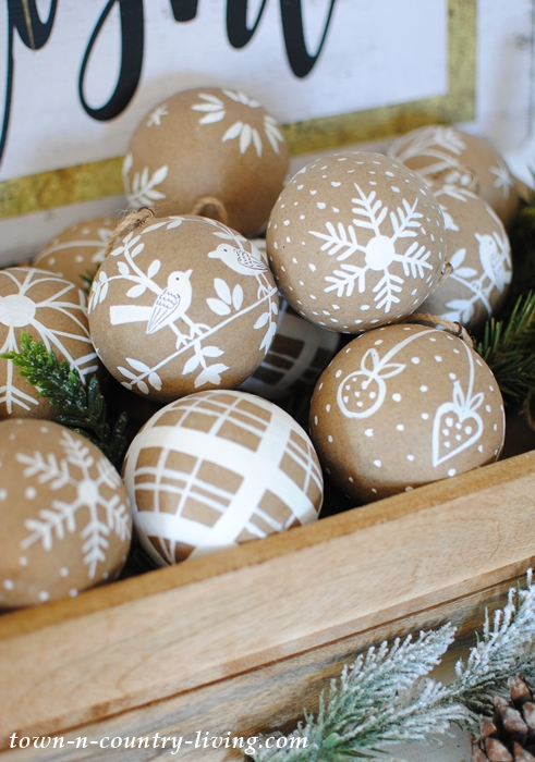 Box of Paper Mache Ornaments