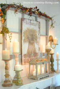 Candlelit Mantel for Early Nightfall