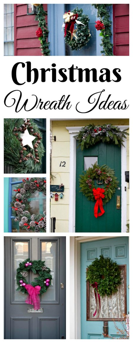 Christmas Decorating. Front Door Wreath Ideas.