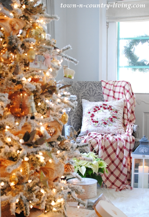 Cozy Living by the Christmas Tree
