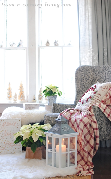 Cozy Christmas Corner with Wing Chair