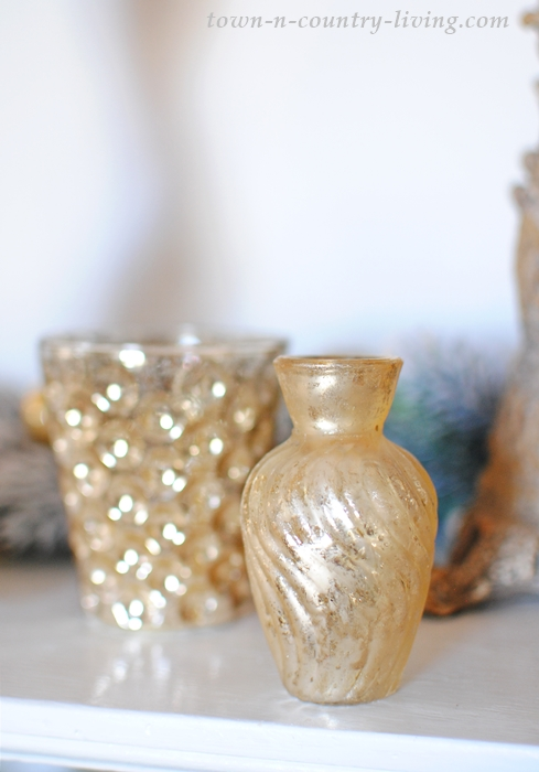 Small Gold Vases and Votive Holders
