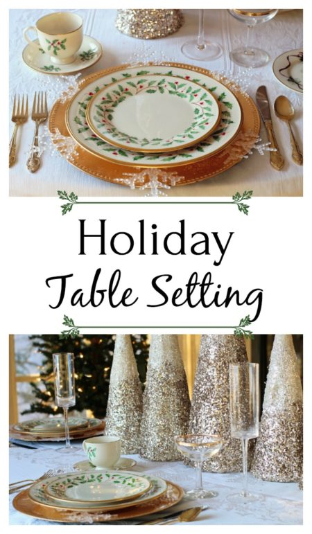 Traditional Holiday Table Setting