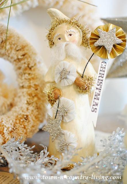 Vintage Christmas Paper Clay Figurine